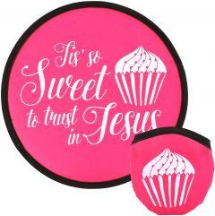 Fan Foldable: Tis' So Sweet to Trust in Jesus, Pink, 58259