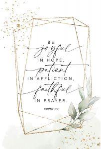 Plaque-Heaven: Joyful, Patient, Faithful., 5641