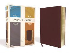 NIV, KJV, NASB, Amplified, Parallel Bible, Bonded Leather, Burgundy