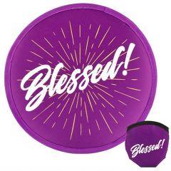 Fan Foldable: Blessed, Purple, 58258
