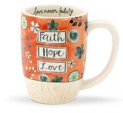 Mug (Sculpted): Faith Hope Love, 78162