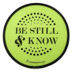 Fan Foldable: Be Still, Green, 58250