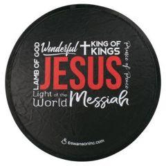 Fan Foldable: Names of Jesus, Black, 58251