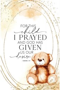 Plaque-Heaven: For This Child I Prayed, 5640