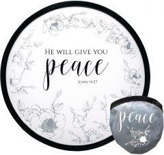 Fan Foldable: Peace, White, 58264