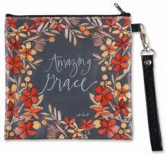 Zippered Bag: Square Wristlet, Amazing Grace, 83869