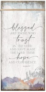 Plaque-Timeless Twine: Blessed Trust Hope, 6560