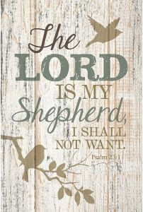 Plaque-New Horizons: The Lord is My Shepherd, 8720