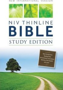 NIV, Thinline Bible, Study Edition, Hardcover
