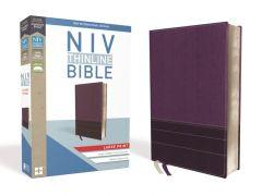 NIV Thinline Bible, Large Print, Leathersoft, Purple
