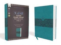 NASB Super Giant Ref. Bible LtrSoft-Teal   Red Ltr