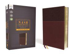 NASB 2020 Thinline Large Print Leathersoft, Burgundy