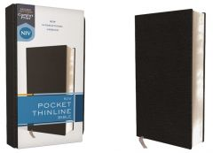 NIV Pocket Thinline Bible, Bonded Leather, Black