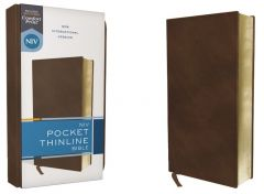 NIV Pocket Thinline Bible, Leathersoft, Brown
