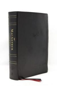 NASB MacArthur Study Bible (Leathersoft, Black, Thumb Index)