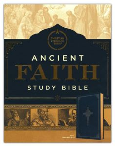 CSB Ancient Faith Study Bible, LeatherTouch Navy