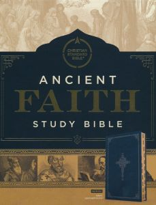 CSB Ancient Faith Study Bible, LeatherTouch Navy, INDEXED