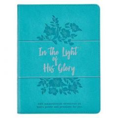 In the Light of His Glory Teal FauxLtr Devo GB194