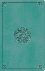 ESV Large Print Value Thinline Bible, Turquoise, Emblem Design