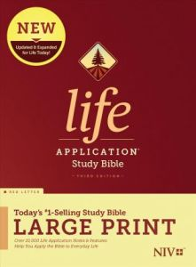 NIV Life Application Study Bible, Third Edition, Large Print, Red Letter, HC