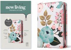 NLT Compact Bible-Zipper Cloth Floral Garden Filament Enabled Edition