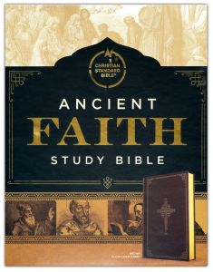 CSB Ancient Faith Study Bible, Brown Cloth-Over-Board