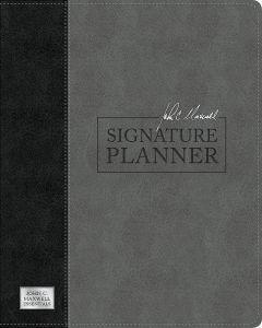 John C Maxwell Signature Planner (Gray/Black LeatherLuxe)