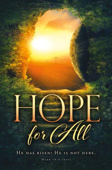 Bulletin-Easter, Hope for All - 100pcs