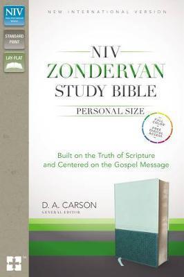 NIV Zondervan Study Bible Personal Size (Imitation Leather -Blue/Turquoise)