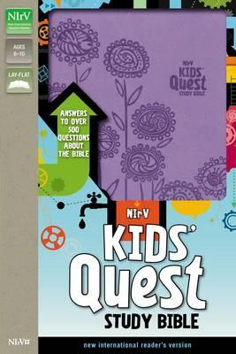 NIrV Kids' Quest Study Bible Imitation Leather - Purple