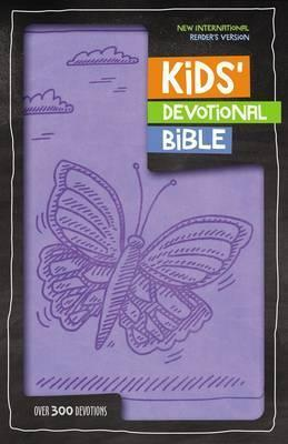 NIrV Kids Devotional Bible - Lavender Butterfly