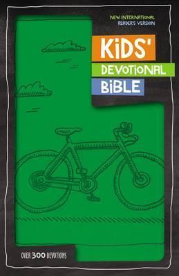 NIrV Kids' Devotional Bible, Imitation Leather, Green