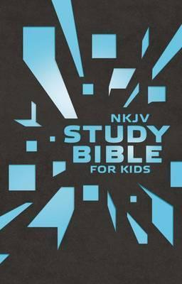NKJV Study Bible For KIDS (Leatherlook Grey/Blue)