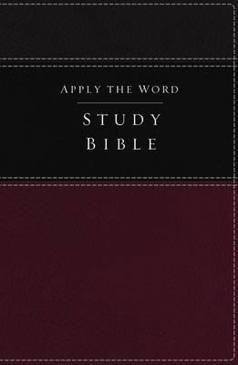 NKJV, Apply the Word Study Bible (Imitation Leather, Burgundy/Black, Red Letter Edition)