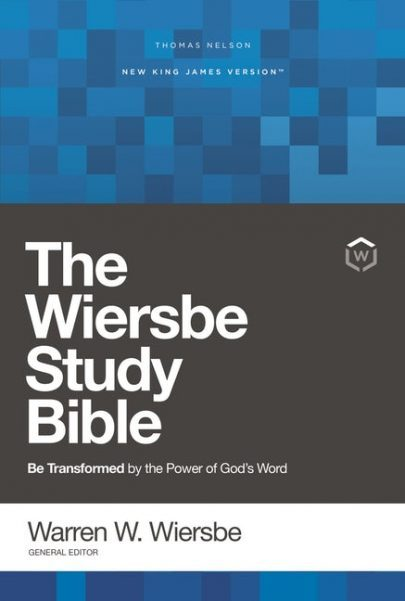 NKJV Wiersbe Study Bible, Hardcover, Red Letter, Comfort Print