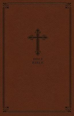 KJV Value Thinline Compact Leather Soft-Brown, Comfort Print