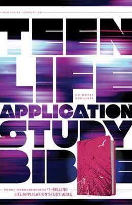 NLT Teen Life Application Study Bible (LeatherLike, Pink Fields)