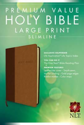 NLT Premium Value Large Print Slimline Bible,
