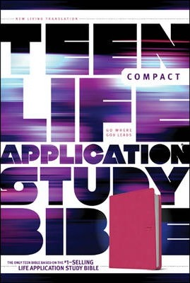 NLT Teen Life Application Study Bible Compact  (LeatherLike, Pink Love)