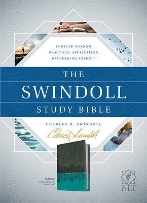 NLT Swindoll Study Bible - Brown/Teal/Blue