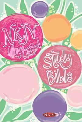 NKJV Illustrated Study Bible for Kids, Flower Hardcover (Girls Edn)