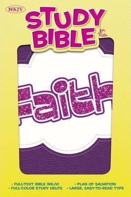 NKJV Study Bible for Kids, Purple, Faith