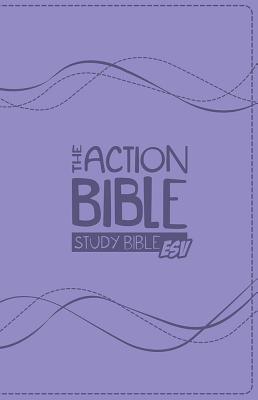 ESV Action Study Bible, Virtual Leather - Purple