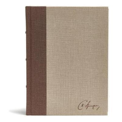 CSB Spurgeon Study Bible, Cloth Over Board-Brown/Tan