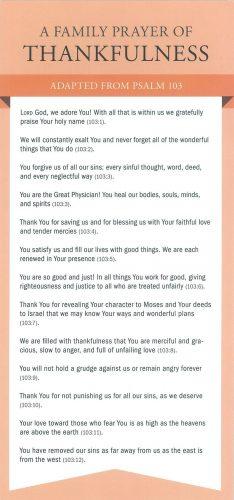 Prayer Card-Family Prayer/Thankfulness #CRD18092