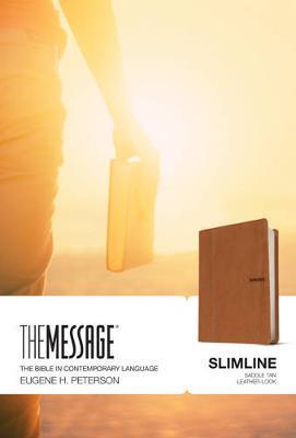 Message Bible Slimline, The (Leatherlike-Saddle Tan)