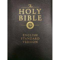 ESV Bonded Bible-Leather Black