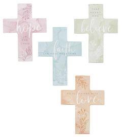 Cross (Mini/Wood): Assorted-Heart & Soul , G6028