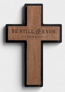 Cross Wood-Be Still & Know, J3870