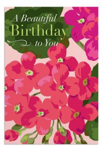 Boxed Cards-Birthday Beautiful Floral , J5129